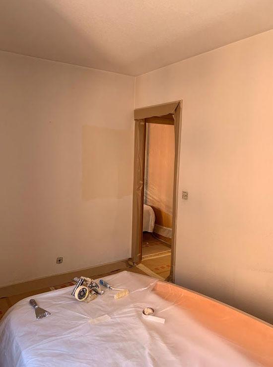 preparando  dormitorio para pintar