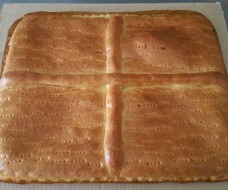 Exquisita empanada de lomo con pimientos