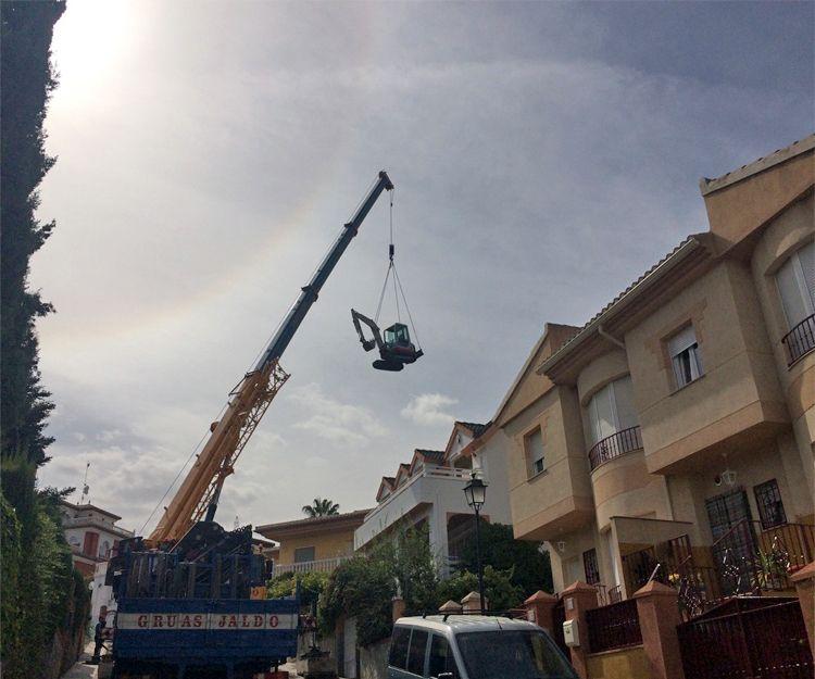 Trabajos de movimientos de tierra en Granada