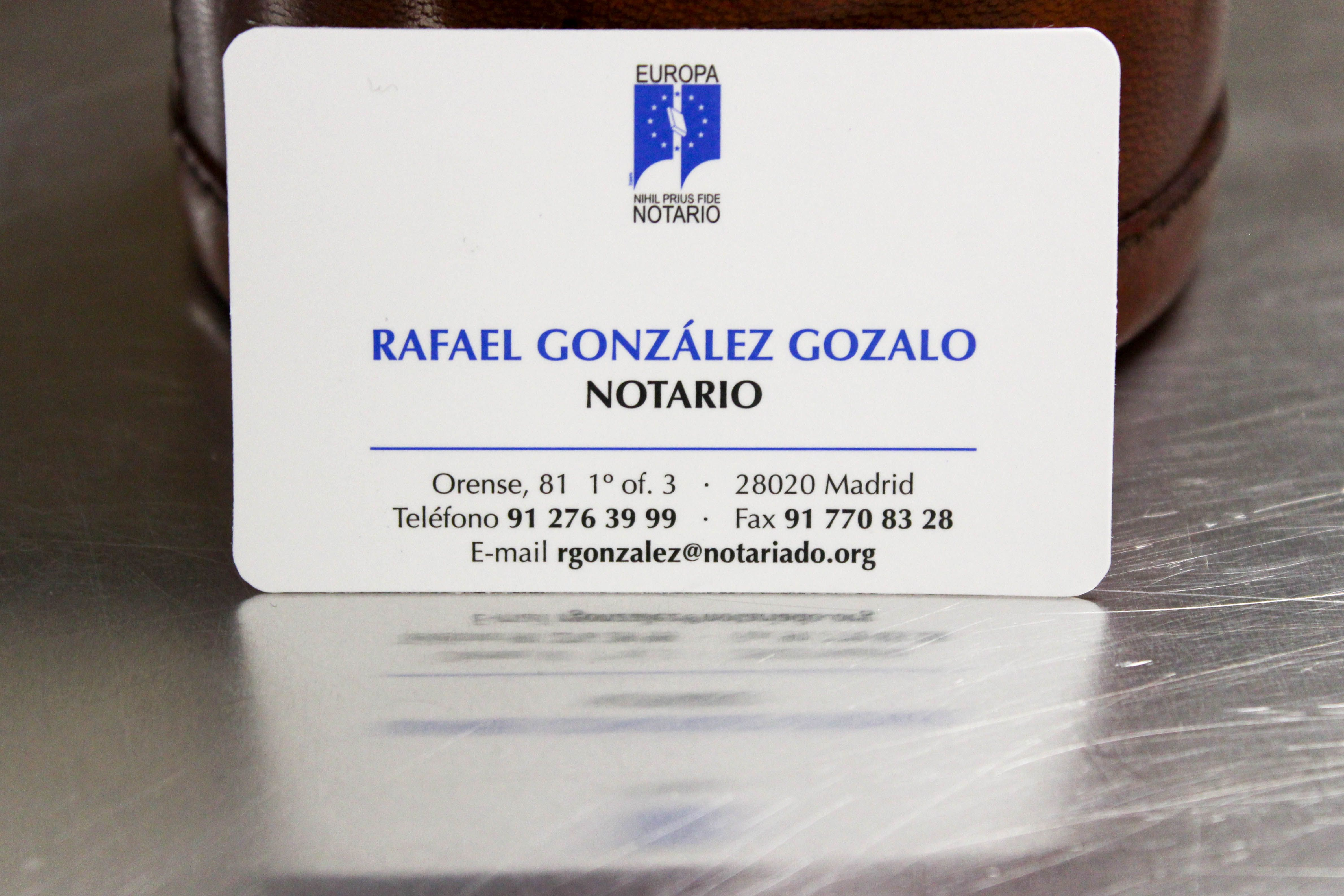 Foto 2 de Notarías en Madrid | Notaría Rafael González Gozalo