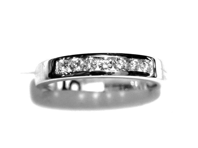 Sortija Compromiso Diamantes Oro Blanco 18K