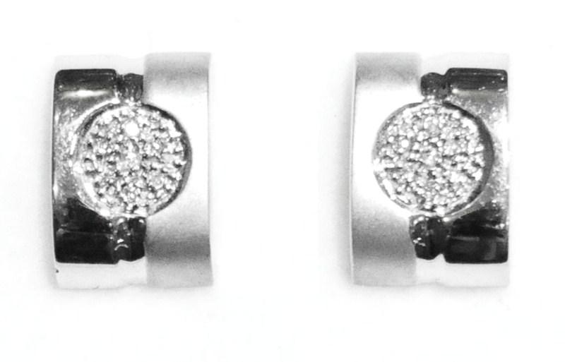 Pendientes Oro Blanco 18K Diamantes