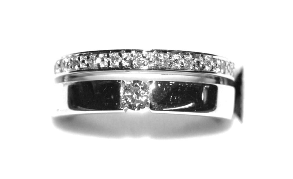 Sortija Diamantes Oro Blanco 18K