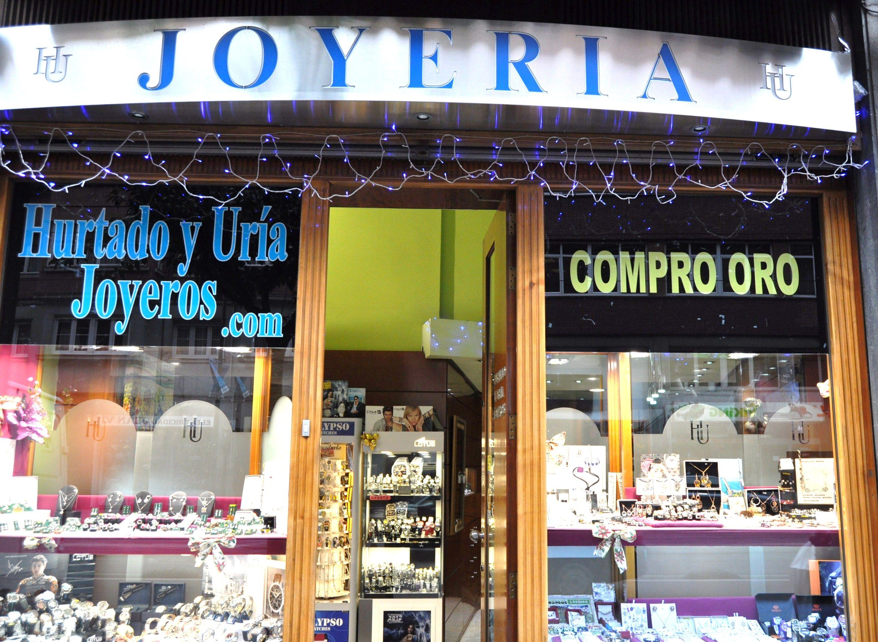 Fachada Tienda Hurtado y Uria Joyeros en Bilbao .