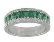 Sortija Diamantes Esmeralda