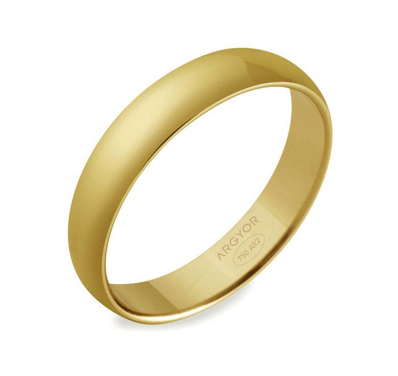 Alianza Boda Oro Amarillo 18 kts