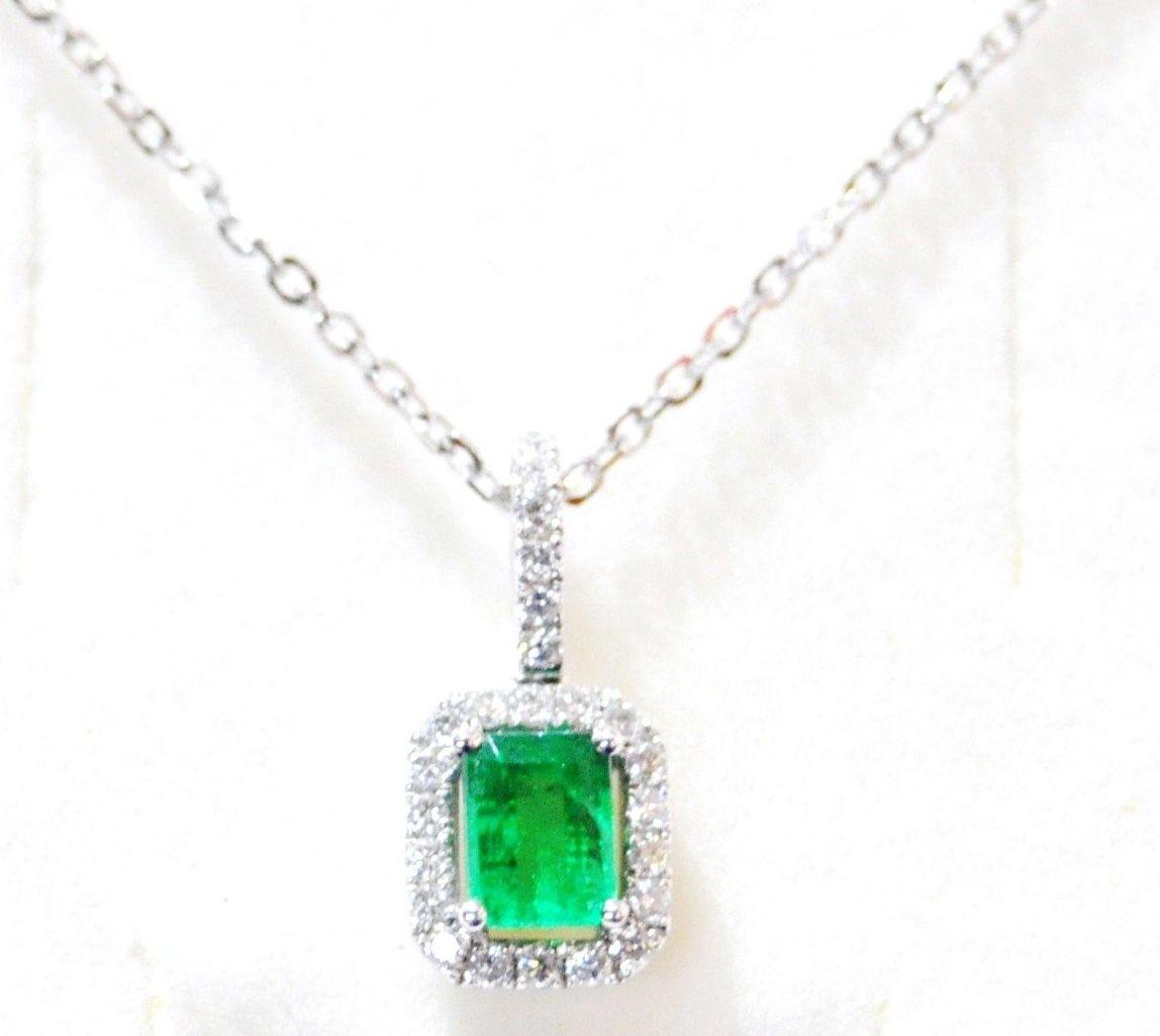 Colgante Esmeralda Diamantes