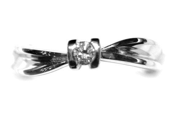 Anillo Compromiso Oro Blanco Diamante