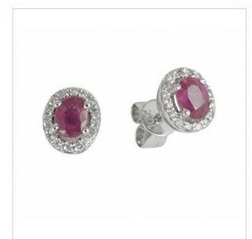 Pendientes Rubi Diamantes