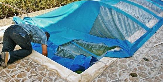 Cubre piscinas : Instalación y fabricación  de Toldos Embajadores