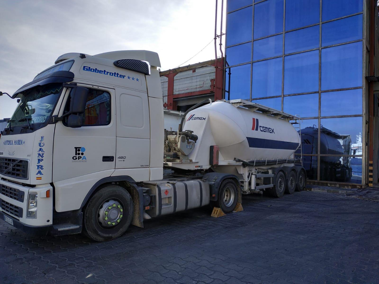 Transporte de cementos Andalucía