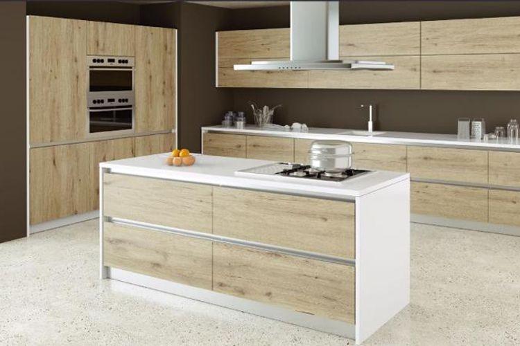 Muebles de cocina con madera de diferentes calidades