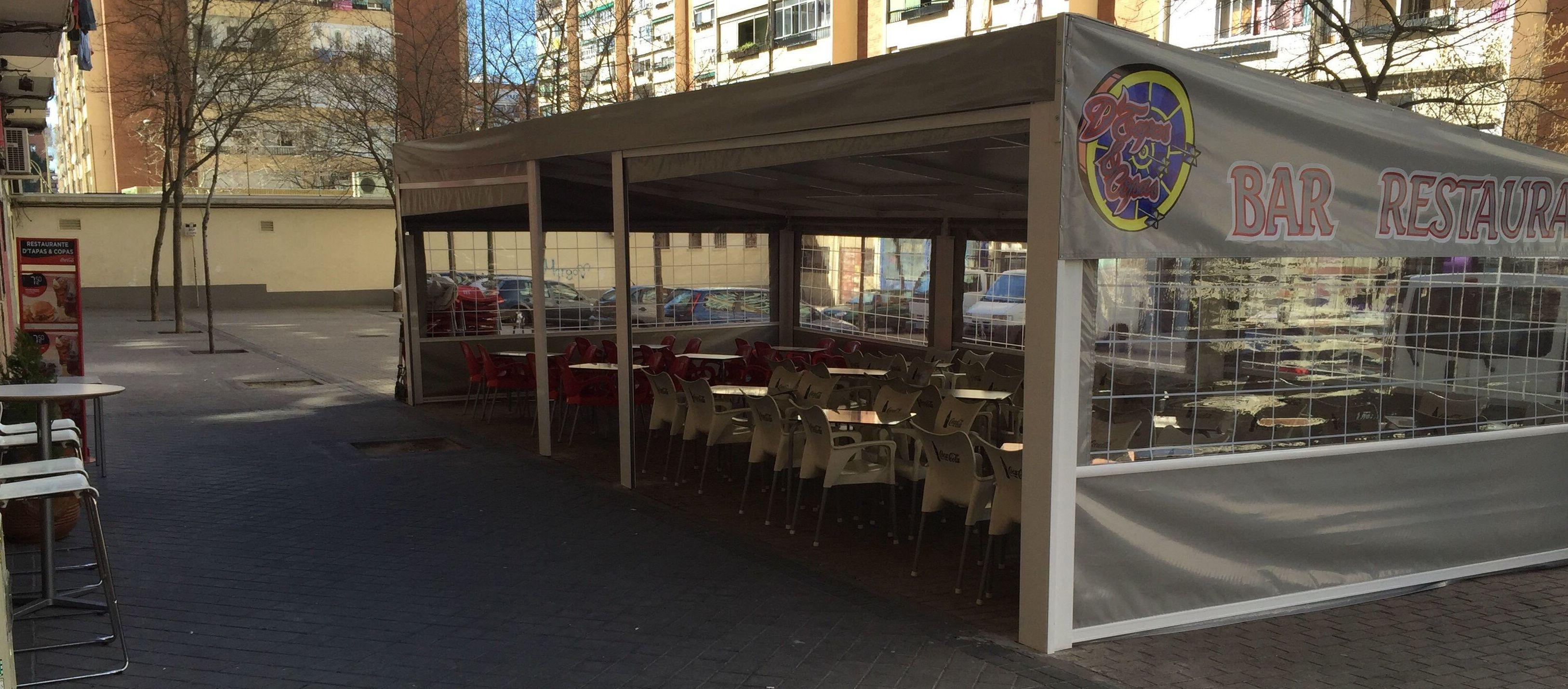 Restaurante con terraza en Barrio del Pilar D'Tapas&copas