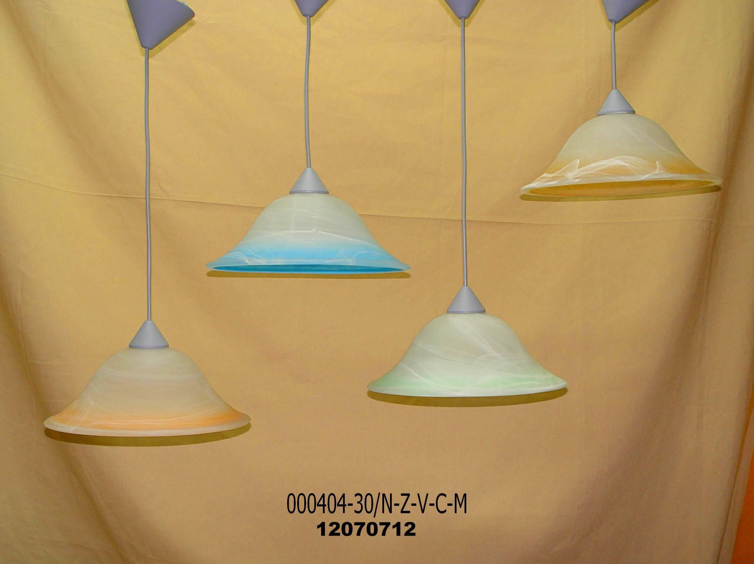 Lámparas colgante en colores
