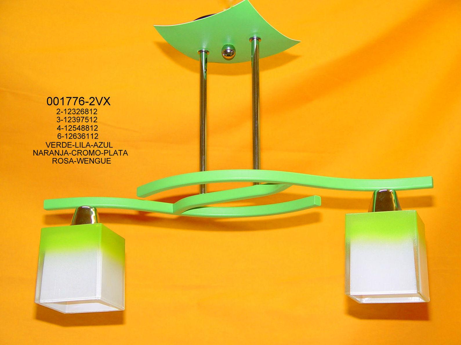 Semiplafón 2 luces colores
