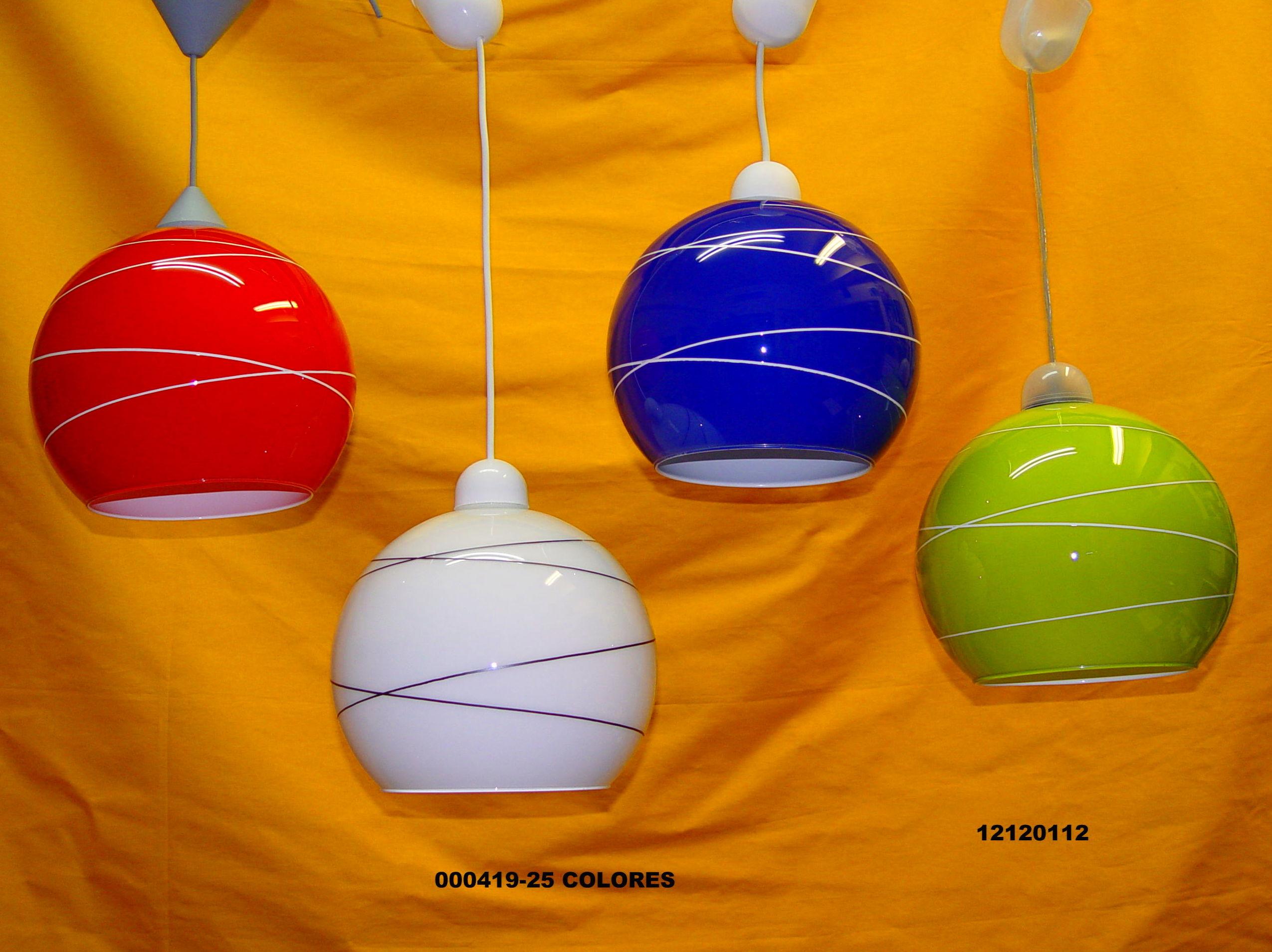 Lámpara colgante esférica