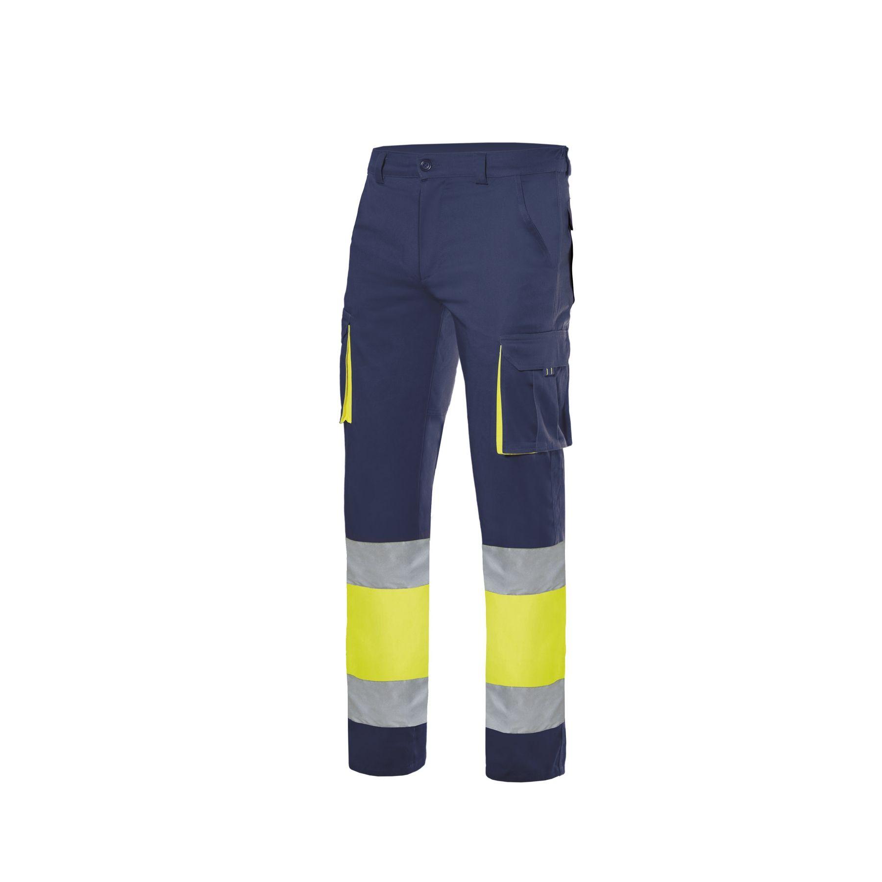 Pantalón stretch bicolor multibolsillos alta visibilidad (ref: 303002S)