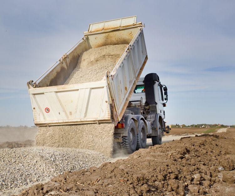 Empresa de transporte de áridos en Huelva