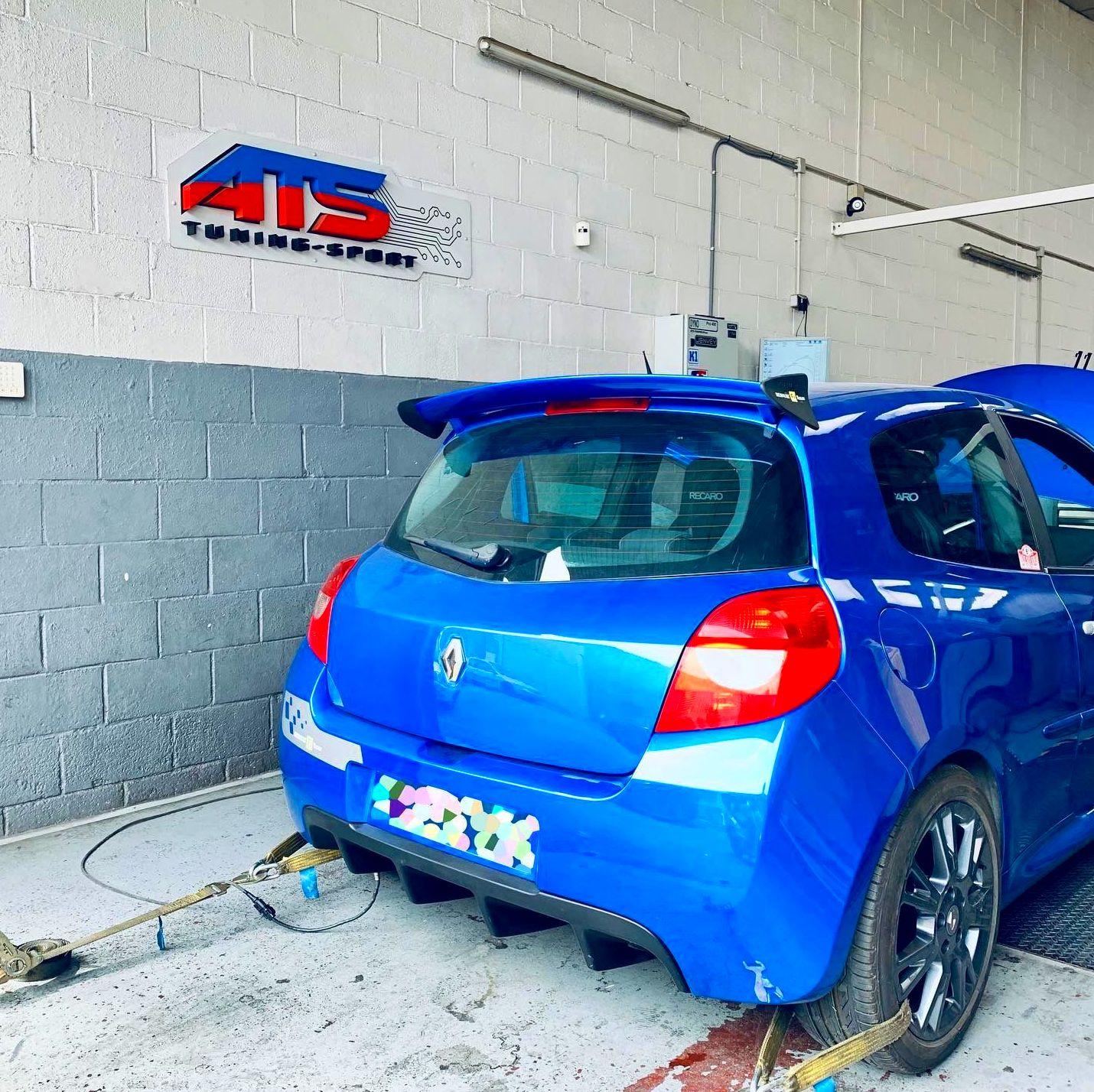 Clio sport f1 200Cv ajuste de inyeccion sobre banco de potencia