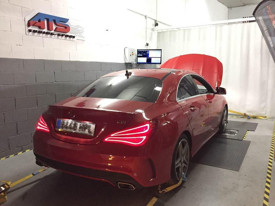 Mercedes Clase CLA Reprogramado y lanzado en nuestro Banco de potencia