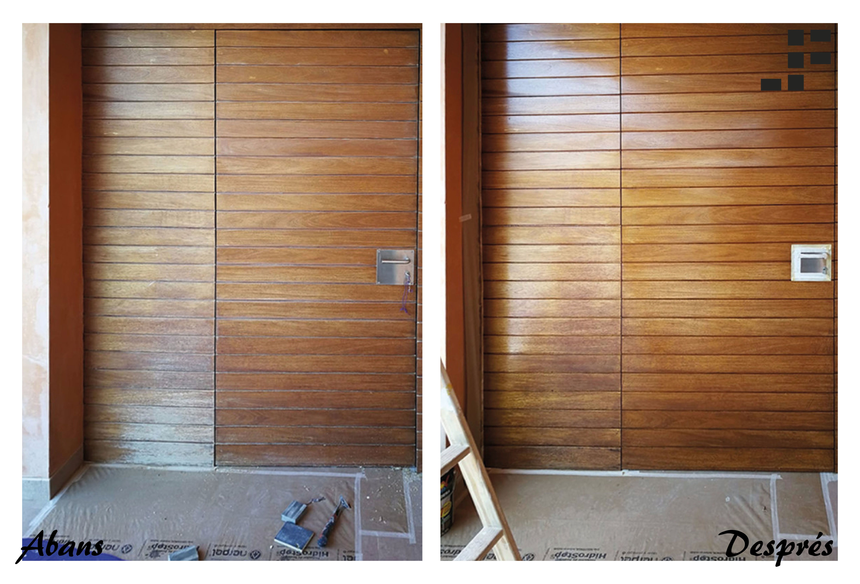 Recuperación puerta exterior de madera