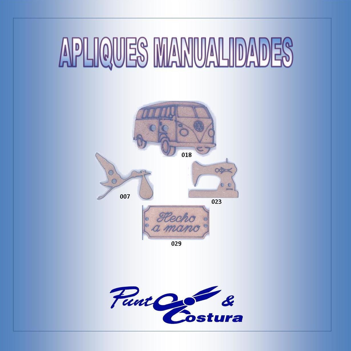 Apliques Manualidades: Catálogo de Punto & Costura