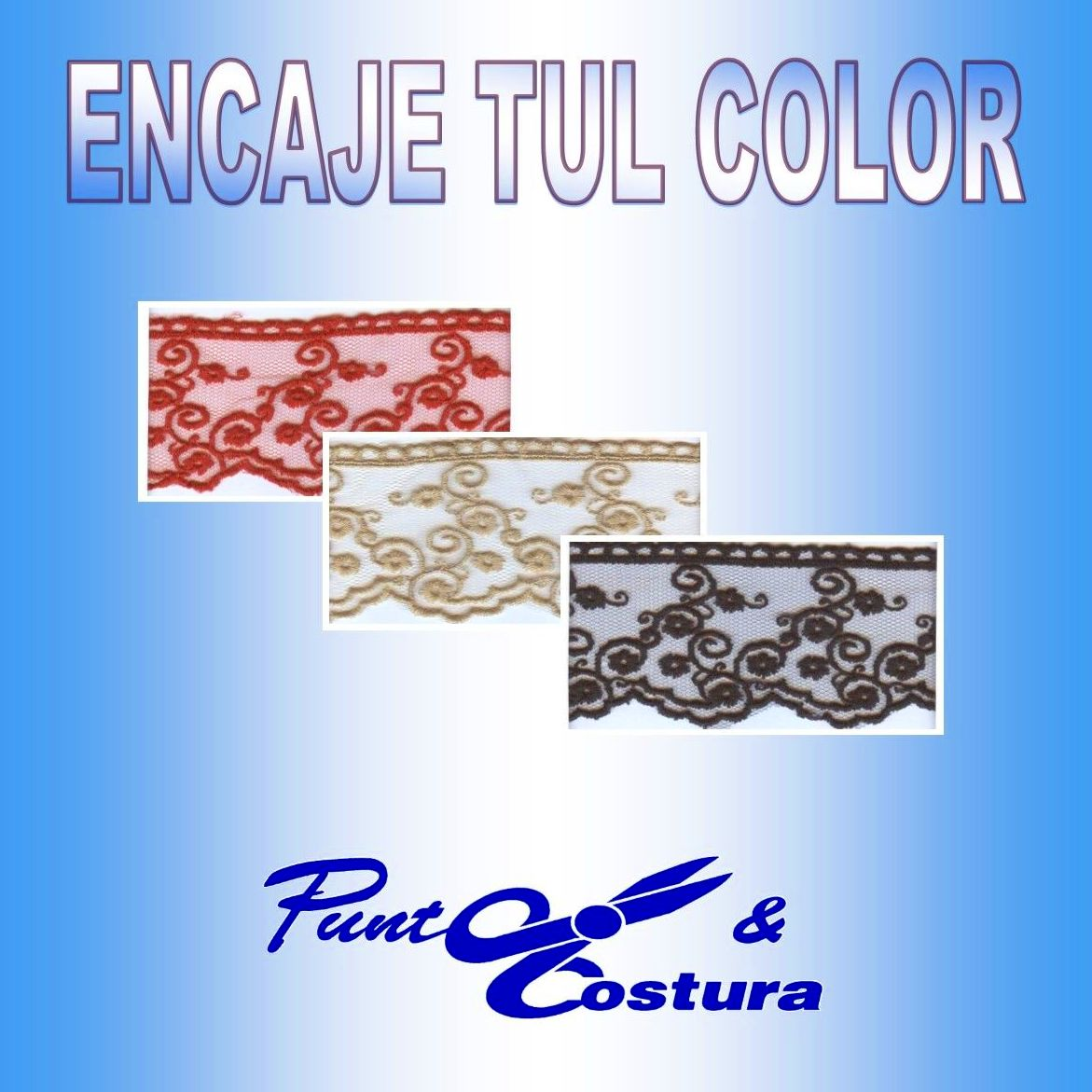 ENCAJES TUL COLOR }}