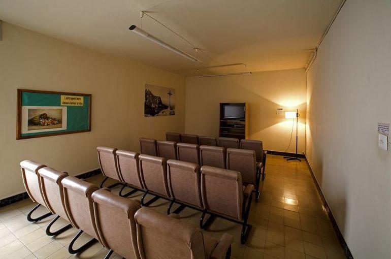 Sala de televisión y ocio de la residencia de estudiantes en Barcelona