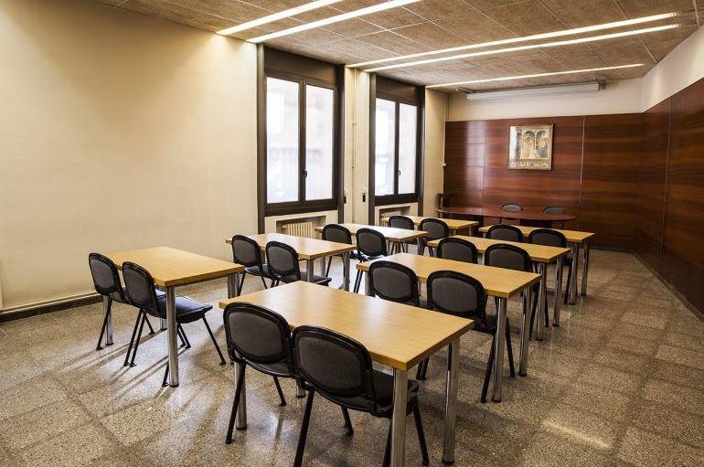 Salón de reuniones de la residencia de estudiantes en Barcelona