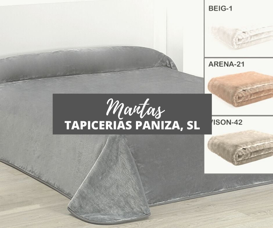COMPRAR MANTAS EN PALMA DE MALLORCA. TIENDA: TAPICERIAS PANIZA