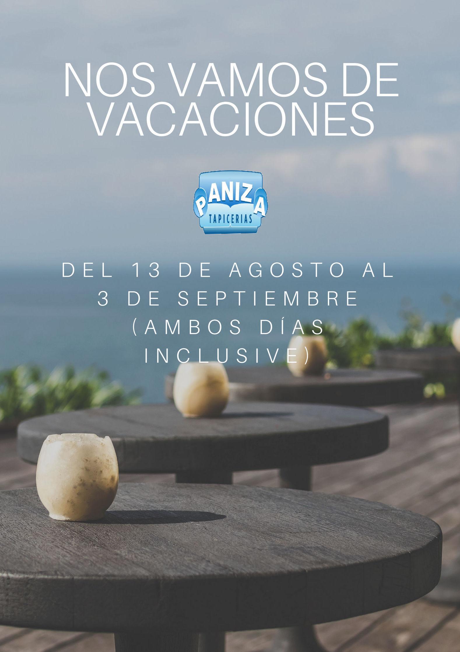 Aviso: Vacaciones Agosto