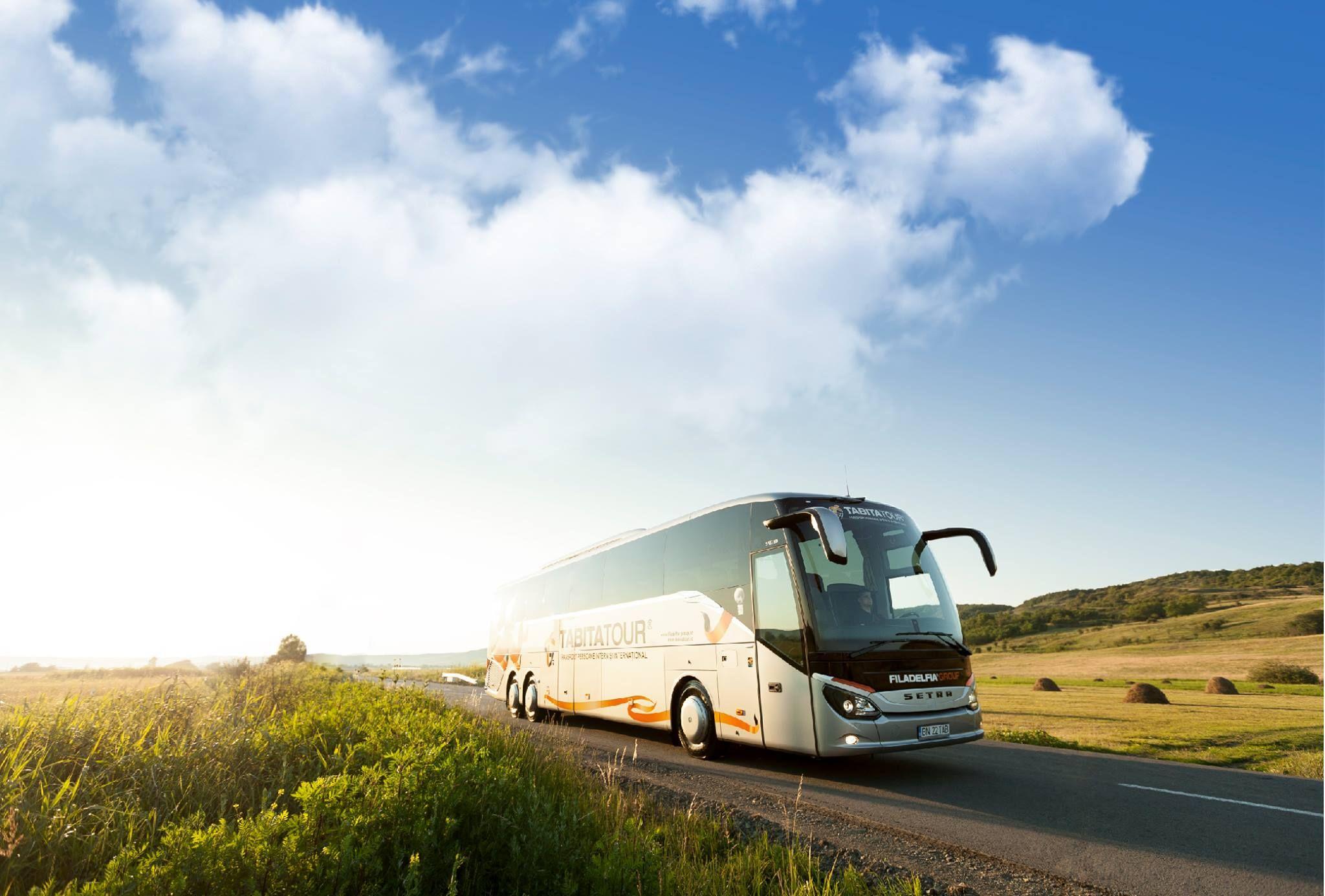 Amplia flota de autobuses