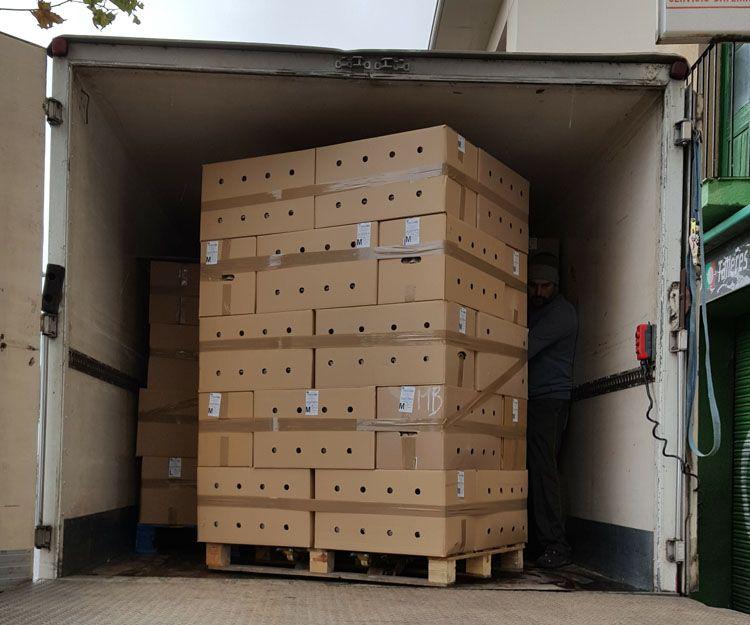 Distribución de huevos para comercios