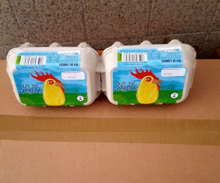 Huevos de varios tamaños