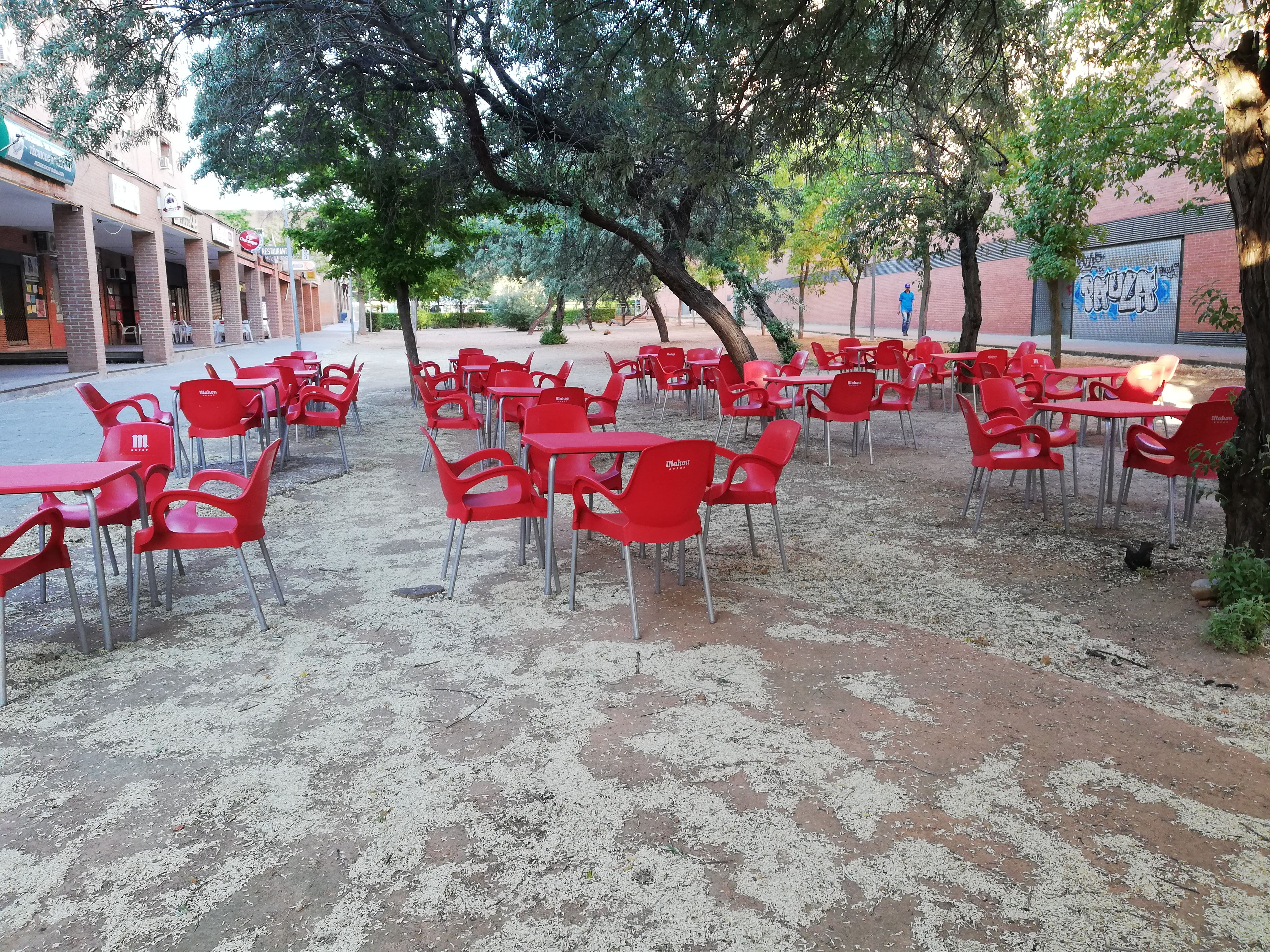 Terraza del Restaurante Sanabrés en Guadalajara