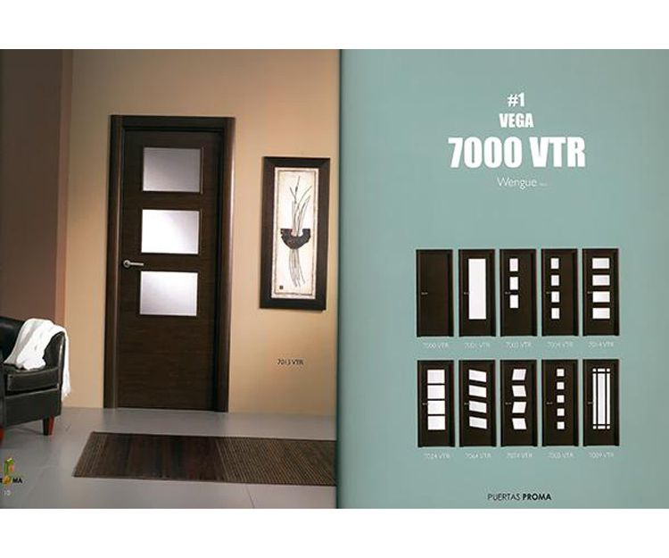 Puertas de interior color wengué en Asturias