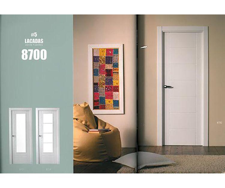 Puertas de interior lacadas de color blanco en Asturias