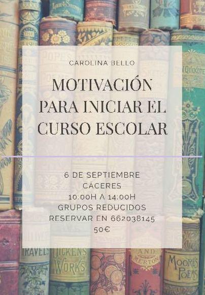 Taller de Motivación para Iniciar el Curso Escolar con Éxito y Fuerza...