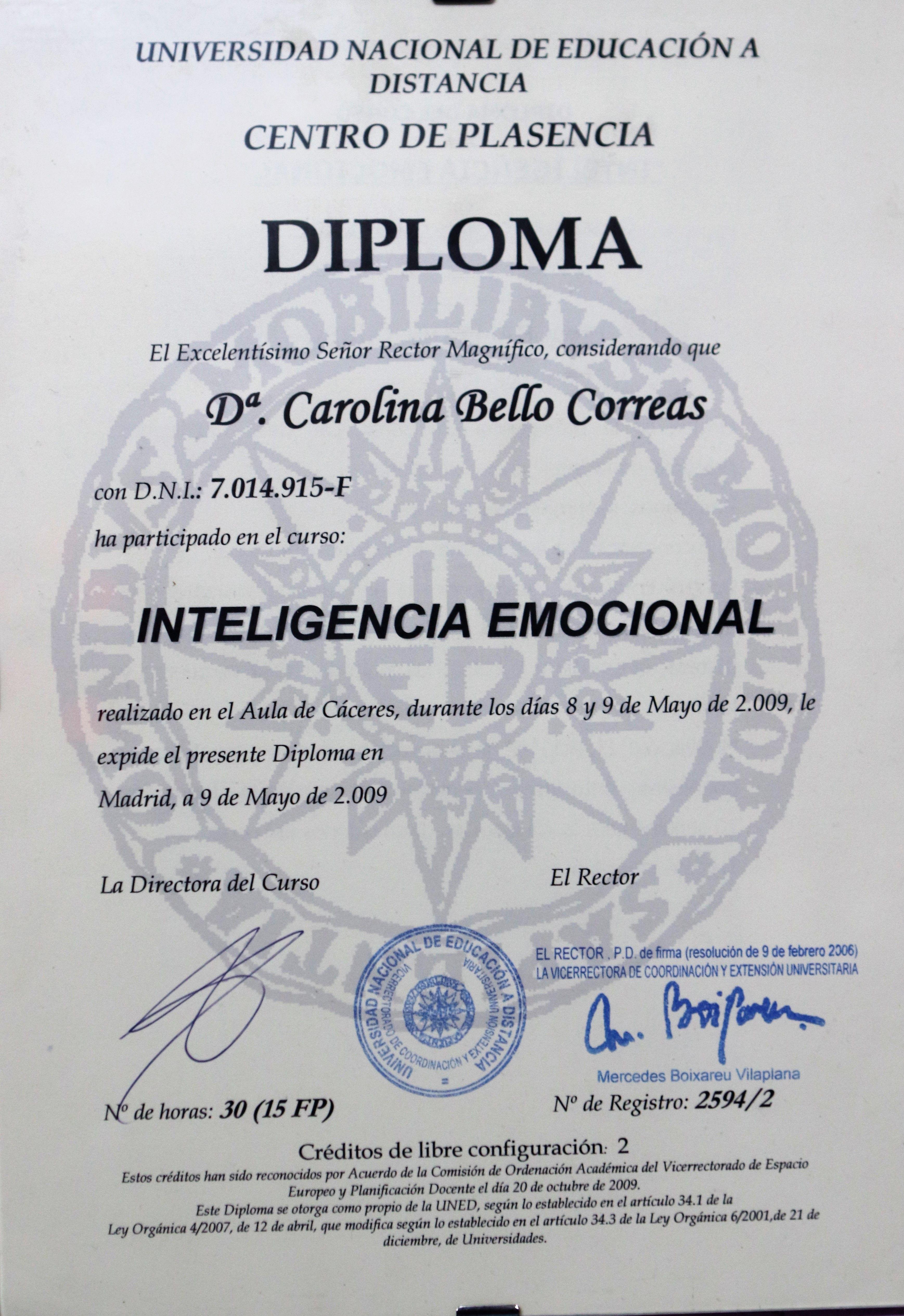 Inteligencia emocional en Cáceres