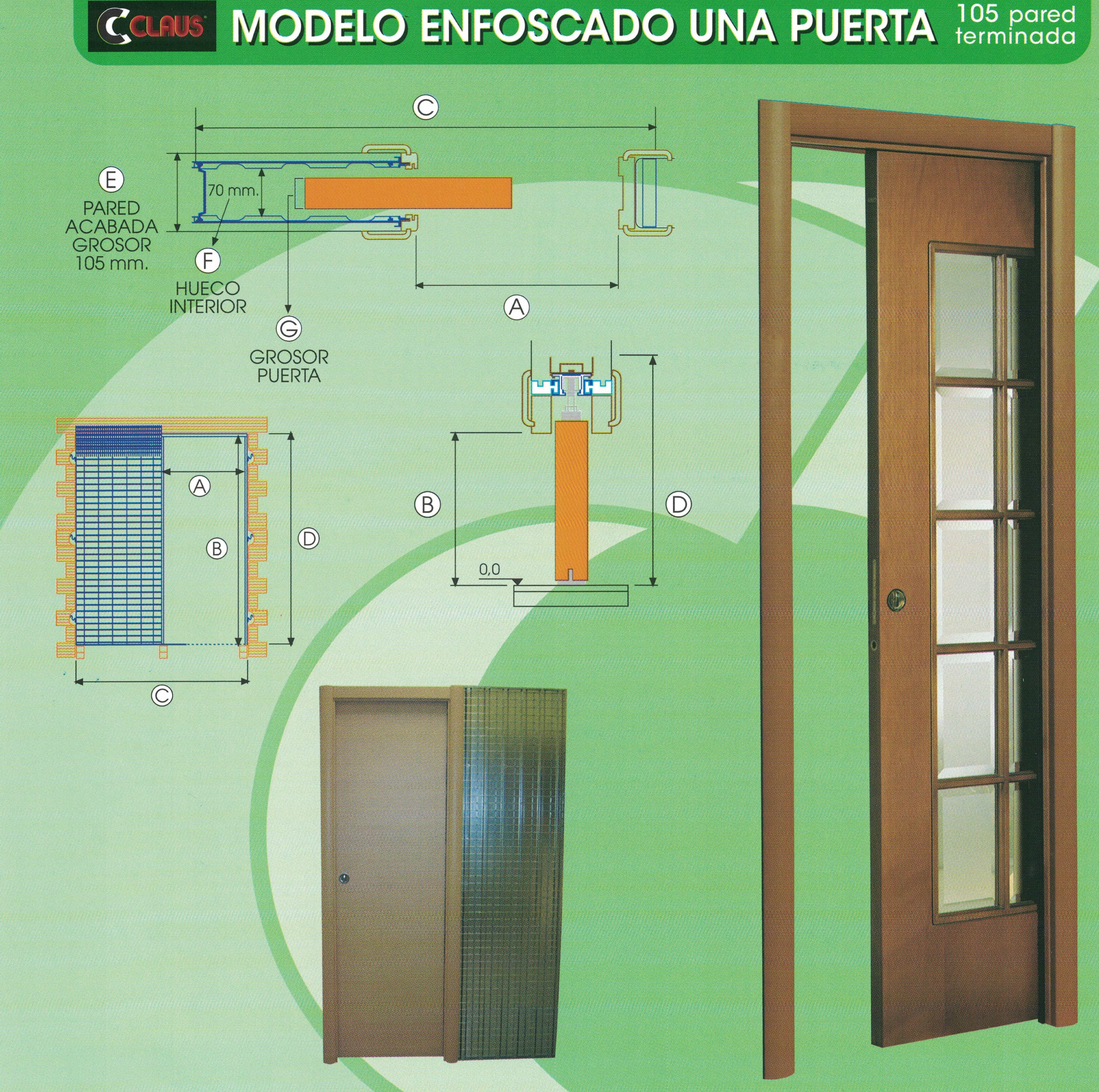 Casoneto enfoscado de una puerta: Productos y servicios de Depoceramic