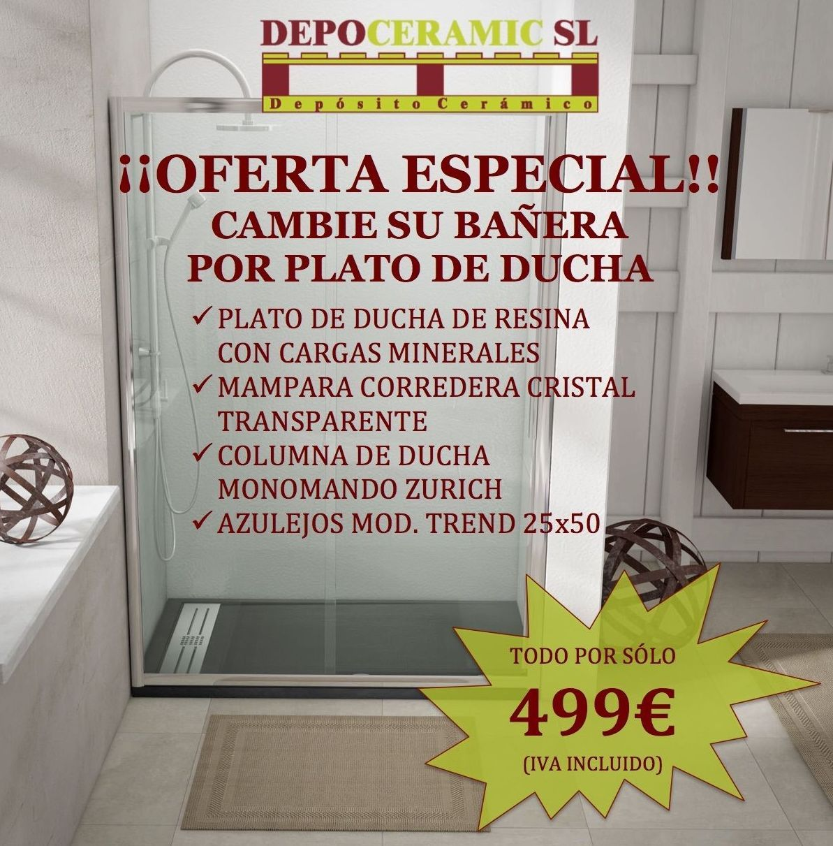 Foto 20 de Cerámicas y azulejos en Fuenlabrada | Depoceramic