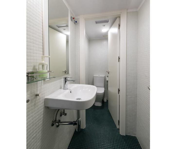 Baños comunes Hostel