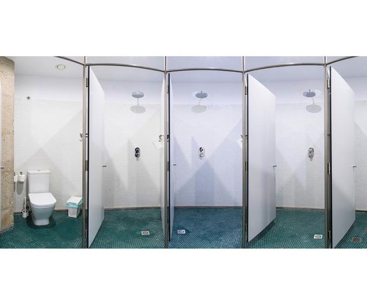 Zona de duchas comunes