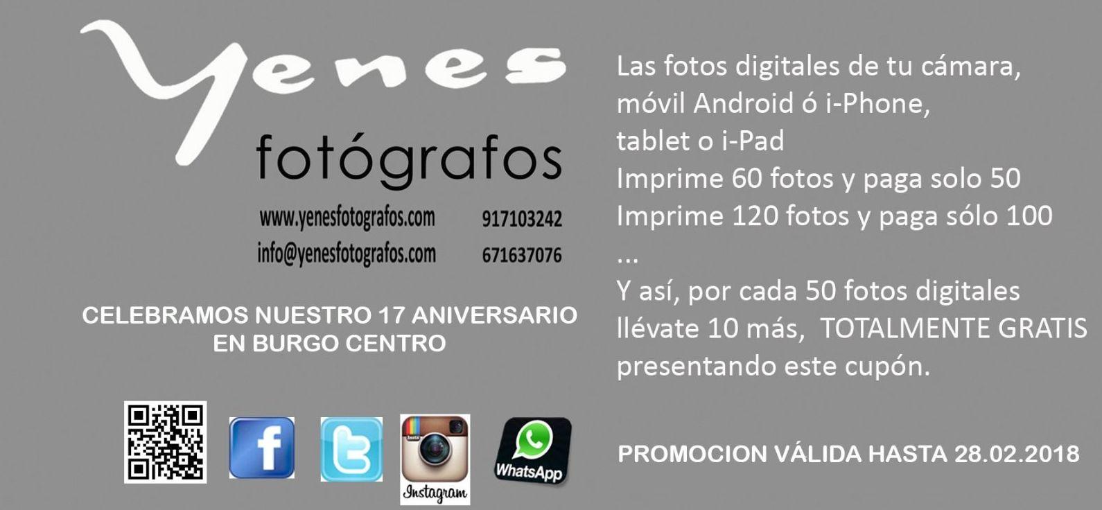 Promoción 17º Aniversario de Yenes Fotógrafos