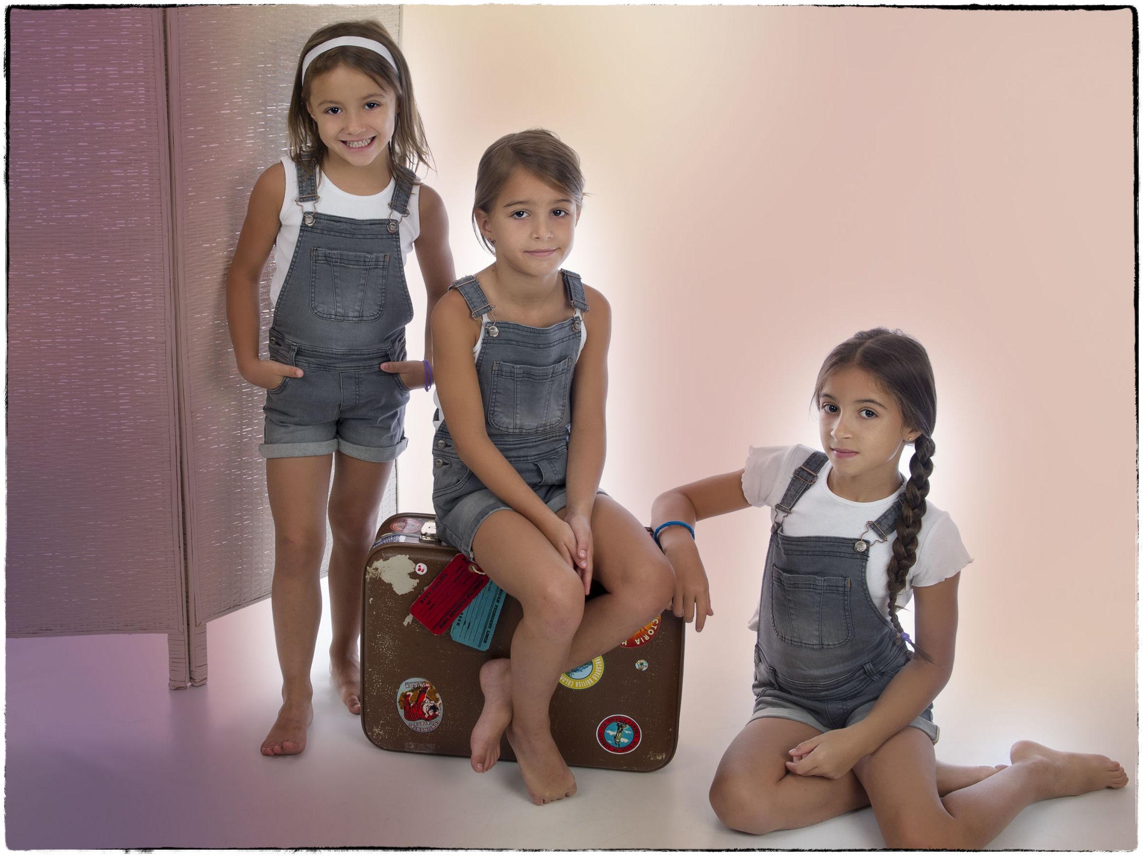 Un trío de hermanas muy bien avenido: Chloe, Noa y Lys