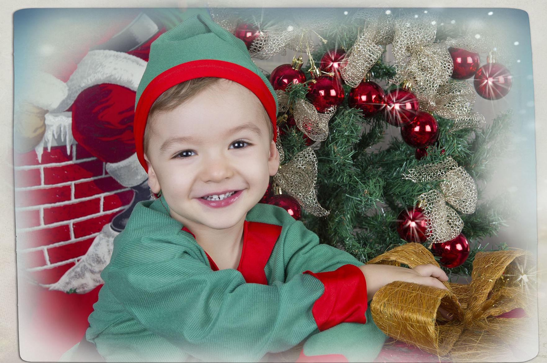 Felicita la Navidad con fotografías