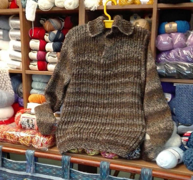 Jersey hecho en nuestra clase de calceta.