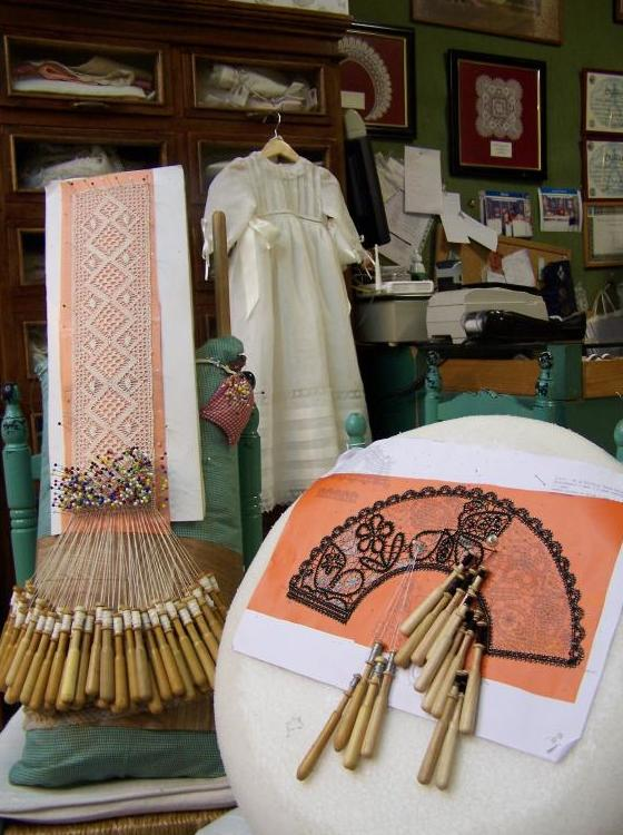 Almohadas para labor de bolillos
