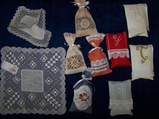 Pañuelos, bolsas perfumadoras...