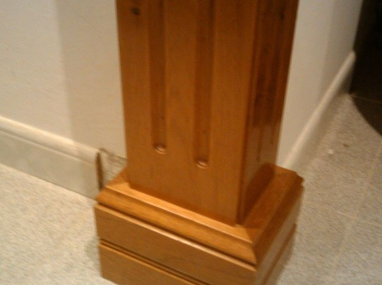 Base de columna de madera